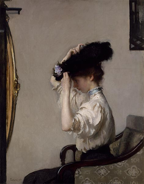 Preparing for the Matinee, 1907   Edmund Charles Tarbell   Painting Reproduction