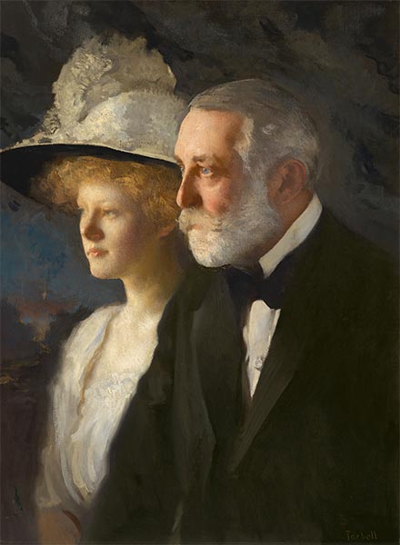 Henry Clay and Helen Frick, c.1910 | Edmund Charles Tarbell | Painting Reproduction