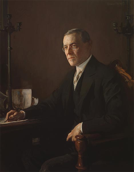 Woodrow Wilson, c.1920/21 | Edmund Charles Tarbell | Painting Reproduction