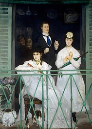 The Balcony | Manet | Painting Reproduction