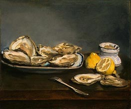 Oysters | Manet | Painting Reproduction
