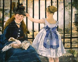 The Railway, 1873 von Manet | Gemälde-Reproduktion