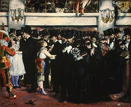 Masked Ball at the Opera | Manet | Gemälde Reproduktion