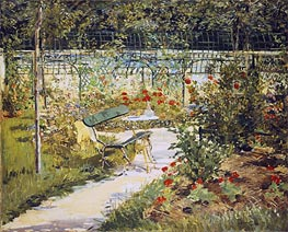 The Bench, The Garden at Versailles, 1881 von Manet | Gemälde-Reproduktion