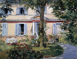 The House at Rueil, 1882 von Manet | Gemälde-Reproduktion