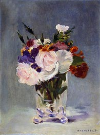Flowers in a Chrystal Vase | Manet | Gemälde Reproduktion
