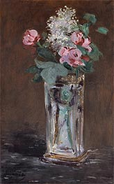 Flowers in a Chrystal Vase | Manet | Painting Reproduction