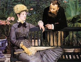 In the Conservatory | Manet | Gemälde Reproduktion