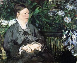 Madame Manet in the Conservatory, 1879 von Manet | Gemälde-Reproduktion
