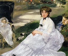 In the Garden | Manet | Painting Reproduction