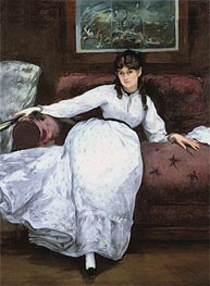 Repose: Portrait of Berthe Morisot | Manet | Painting Reproduction
