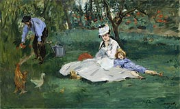 The Monet Family in Their Garden at Argenteuil | Manet | Gemälde Reproduktion
