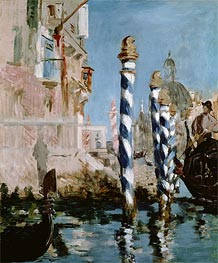 The Grand Canal, Venice | Manet | Gemälde Reproduktion