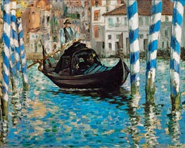 The Grand Canal, Venice (Blue Venice) | Manet | Painting Reproduction