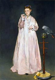 Young Lady with Parrot | Manet | Gemälde Reproduktion
