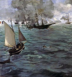 Battle of the 'Kearsarge' and the 'Alabama' | Manet | Gemälde Reproduktion