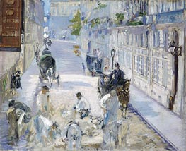 The Rue Mosnier with Pavers | Manet | Painting Reproduction
