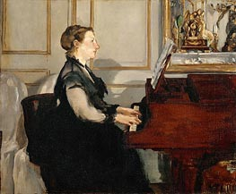 Madame Manet at the Piano | Manet | Gemälde Reproduktion