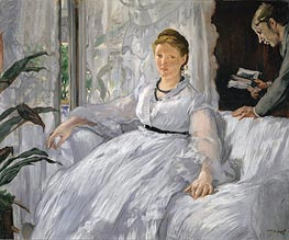 Madame Manet (Reading) | Manet | Gemälde Reproduktion