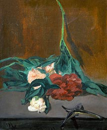 Stem of Peonies and Secateurs, 1864 by Manet | Painting Reproduction