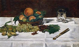 Still Life: Fruit on a Table | Manet | Painting Reproduction