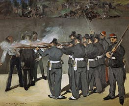 The Execution of the Emperor Maximilian | Manet | Gemälde Reproduktion