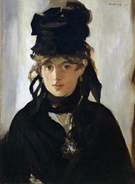 Berthe Morisot with a Bouquet of Violets | Manet | Painting Reproduction