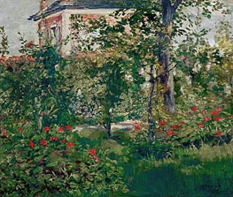The Bellevue Garden | Manet | Gemälde Reproduktion