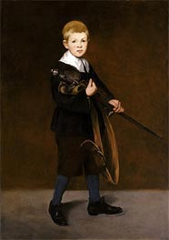 Boy with a Sword, 1861 von Manet | Gemälde-Reproduktion