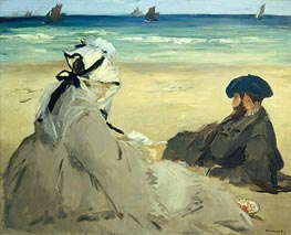 At the Beach, 1873 von Manet | Gemälde-Reproduktion