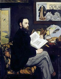 Emile Zola, c.1867/68 by Manet | Painting Reproduction