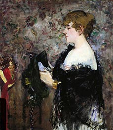 At The Milliner's, 1881 von Manet | Gemälde-Reproduktion