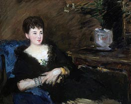 Portrait of Isabelle Lemonnier | Manet | Gemälde Reproduktion