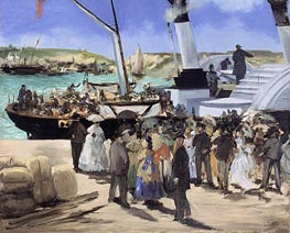 The Folkestone Boat, Boulogne, 1869 by Manet | Painting Reproduction