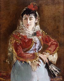 Portrait of Emilie Ambre as Carmen | Manet | Gemälde Reproduktion