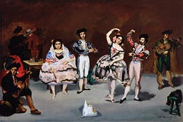 Spanish Ballet, 1862 by Manet | Painting Reproduction