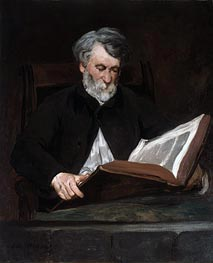 The Reader, 1861 by Manet | Painting Reproduction