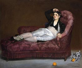 Young Woman Reclining in Spanish Costume, c.1862/63 by Manet | Painting Reproduction