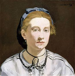 Victorine Meurent, c.1862 by Manet | Painting Reproduction
