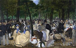Music in the Tuileries Gardens, 1862 by Manet | Painting Reproduction