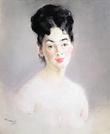Bust of a Young Female Nude | Manet | Painting Reproduction