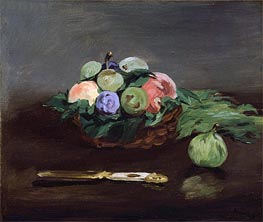 Basket of Fruit, c.1864 by Manet | Painting Reproduction