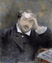 Emmanuel Chabrier, 1881 by Manet | Painting Reproduction