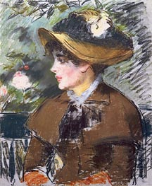 On the Bench, 1879 by Manet | Painting Reproduction