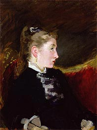 Profile of a Young Girl - Mlle. Ellen Andree, c.1860 by Manet | Painting Reproduction