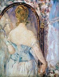 Woman Before a Mirror | Manet | Gemälde Reproduktion