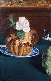 Still Life with Brioche | Manet | Gemälde Reproduktion
