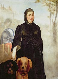 Woman With Dogs | Manet | Gemälde Reproduktion