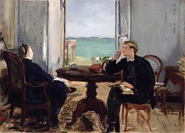 Interior at Arcachon, 1871 by Manet | Painting Reproduction