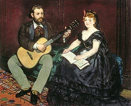 Music Lesson | Manet | Gemälde Reproduktion